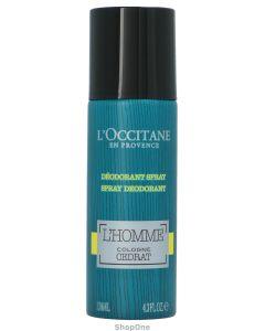 L'Occitane L'Homme Cologne Cedrat Deodorant Spray 130 ml