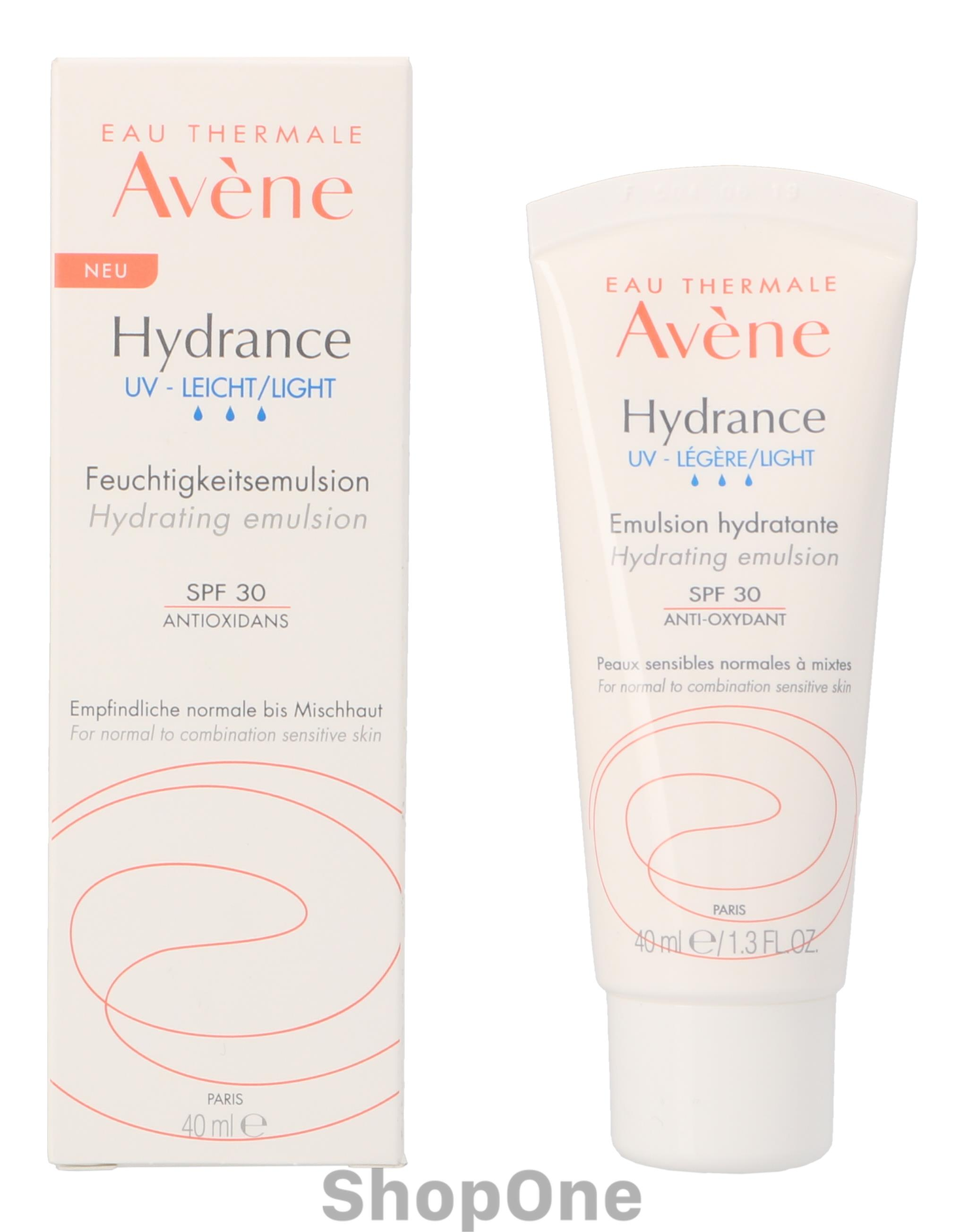 Image of   Eau Thermale Hydrance UV-Light Hydr. Emuls. 40 ml fra Avene