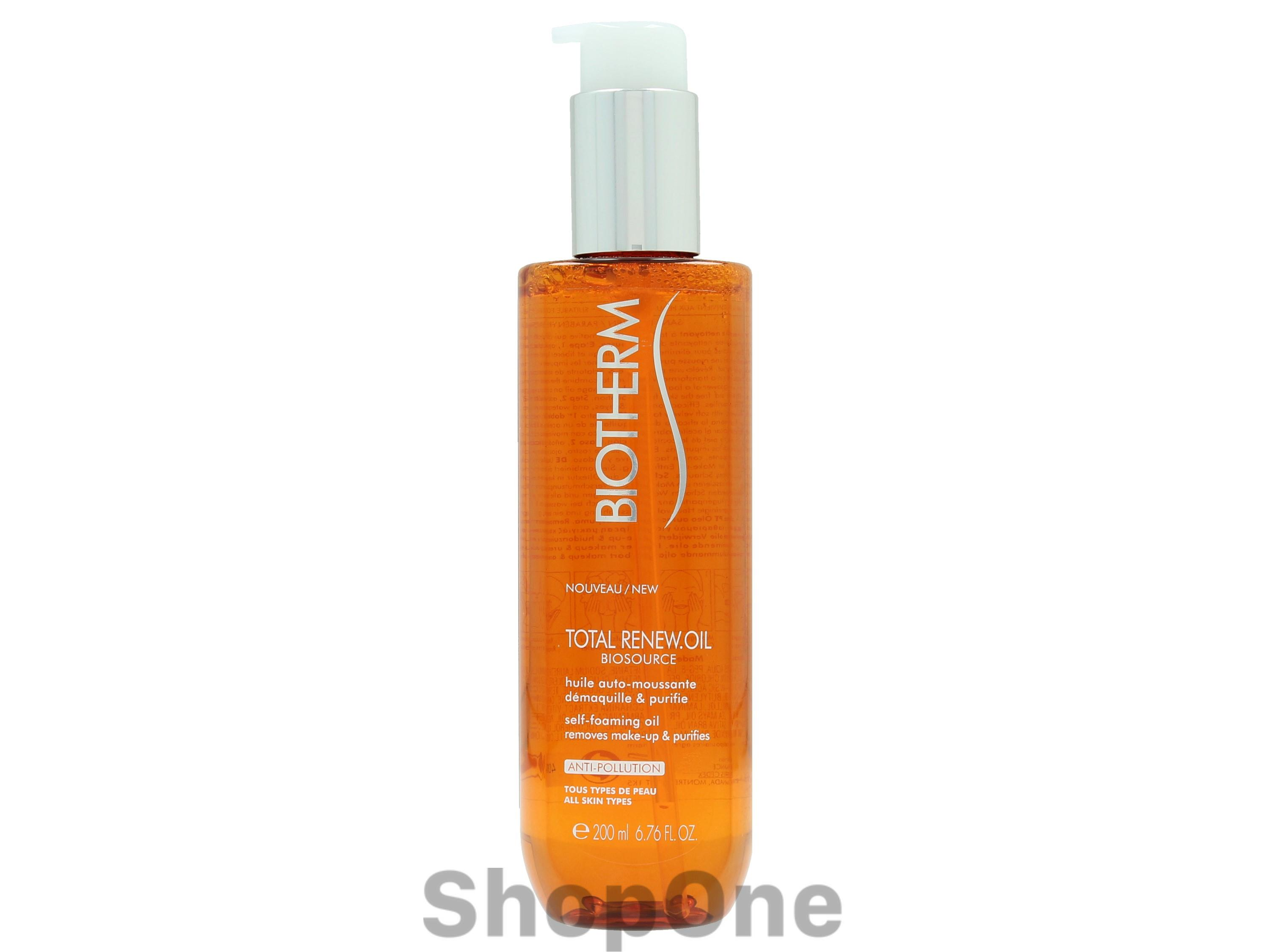 Image of   Biosource Total Renew Oil Self Foaming 200 ml fra Biotherm
