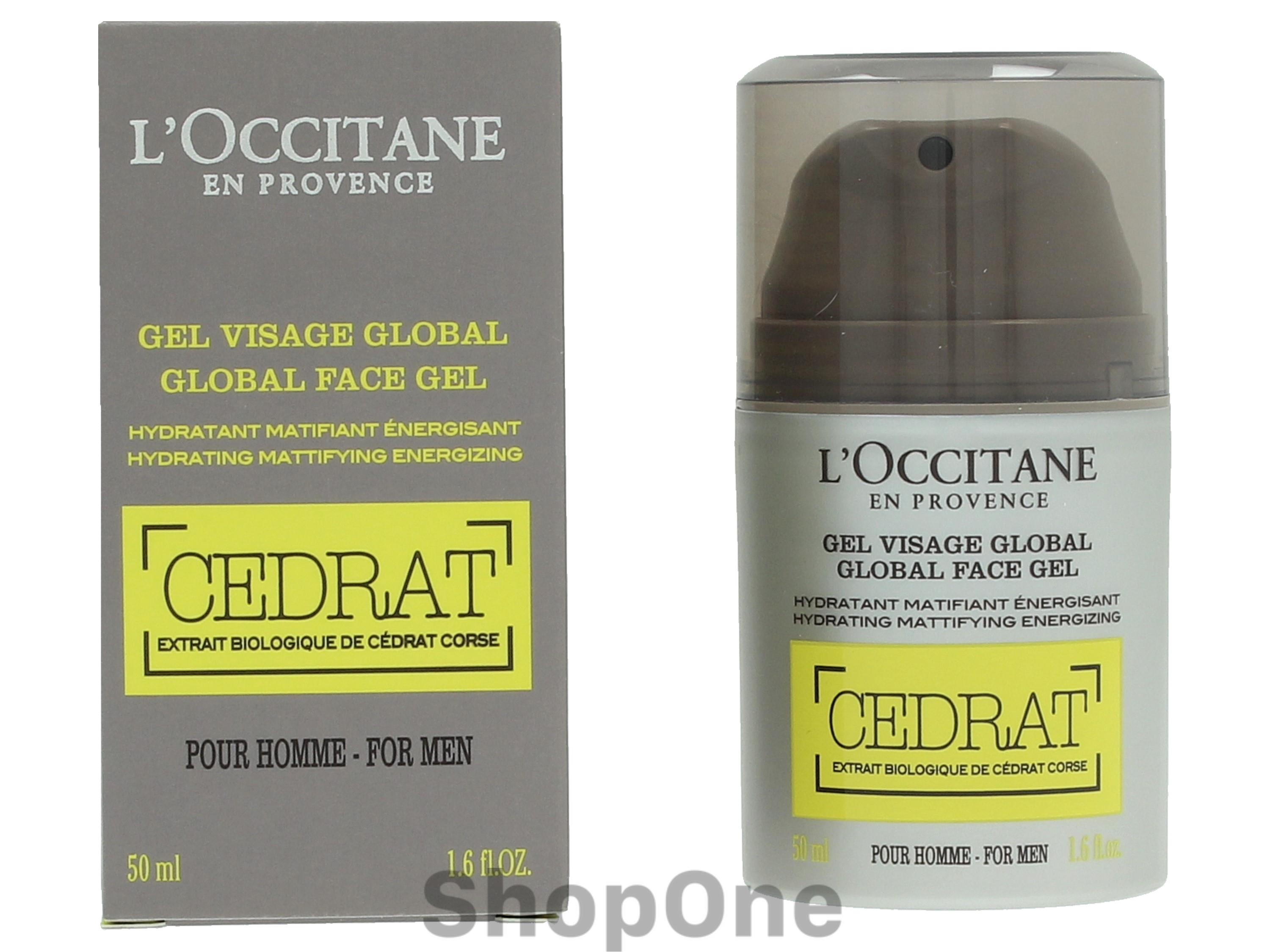 Image of   Cedrat Global Face Gel For Men 50 ml fra LOccitane