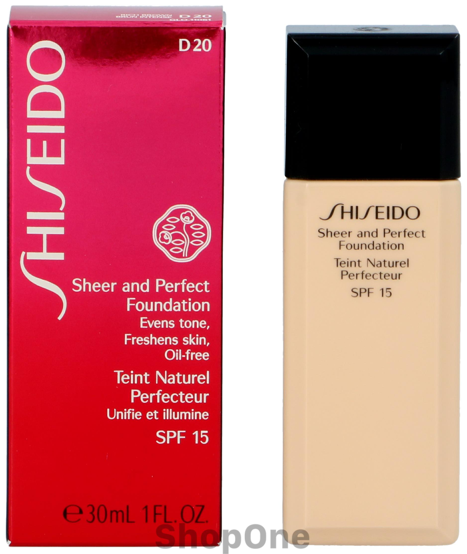 Image of   Sheer And Perfect Foundation 30 ml fra Shiseido