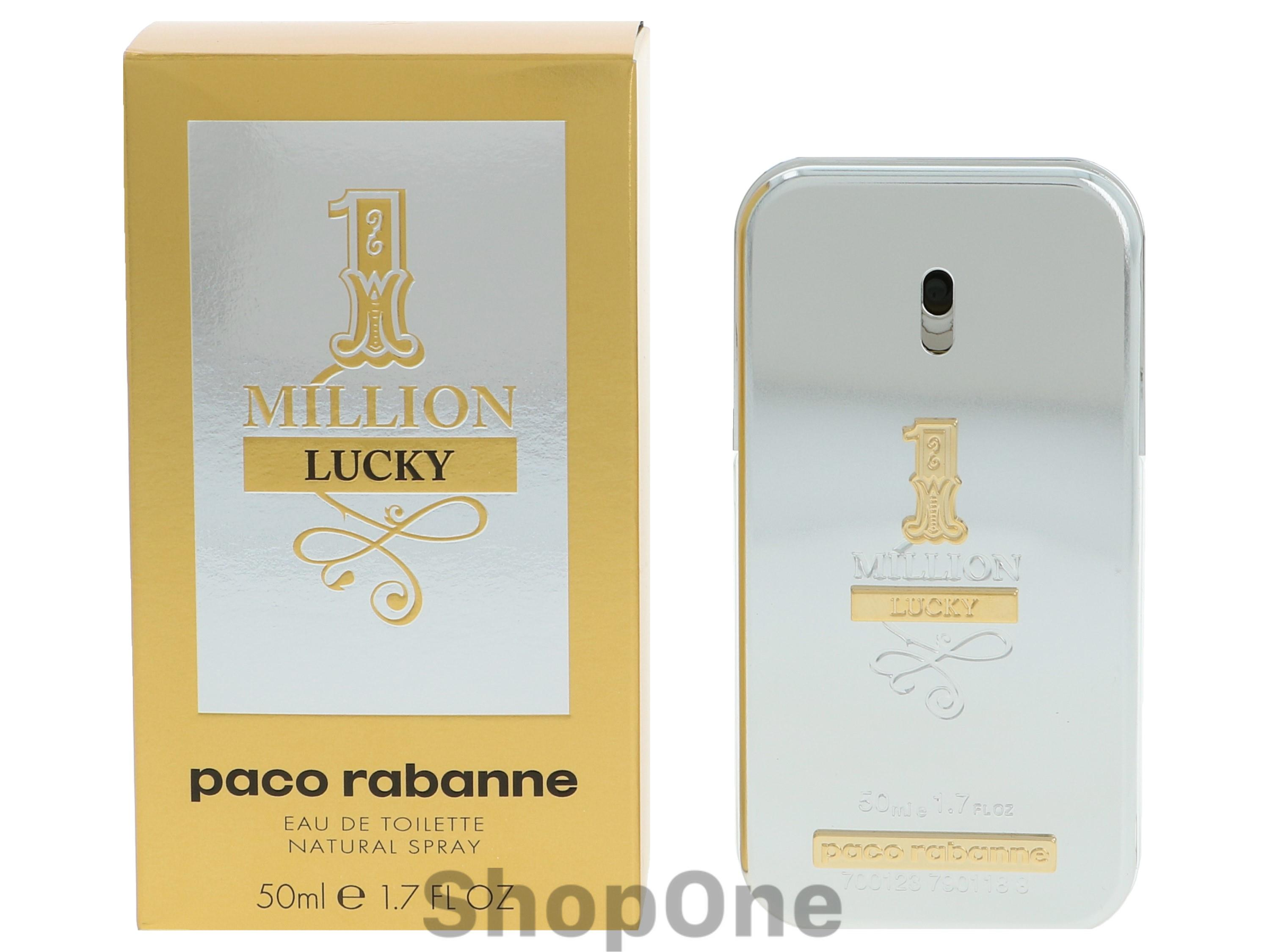 Image of   1 Million Lucky Edt Spray 50 ml fra Paco Rabanne