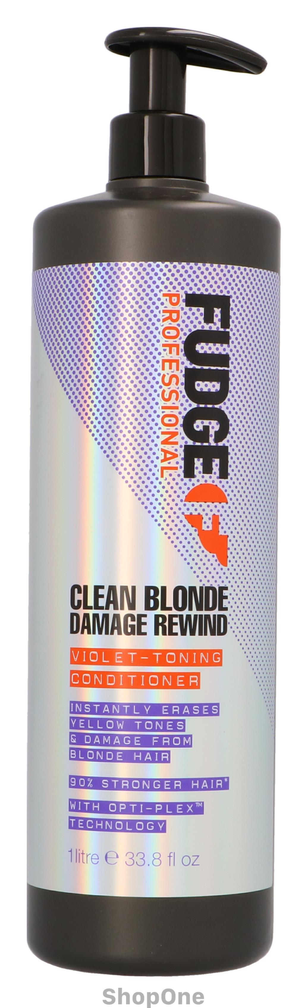 Image of   Clean Blonde Damage Rewind Violet-Toning Con 1000 ml fra Fudge