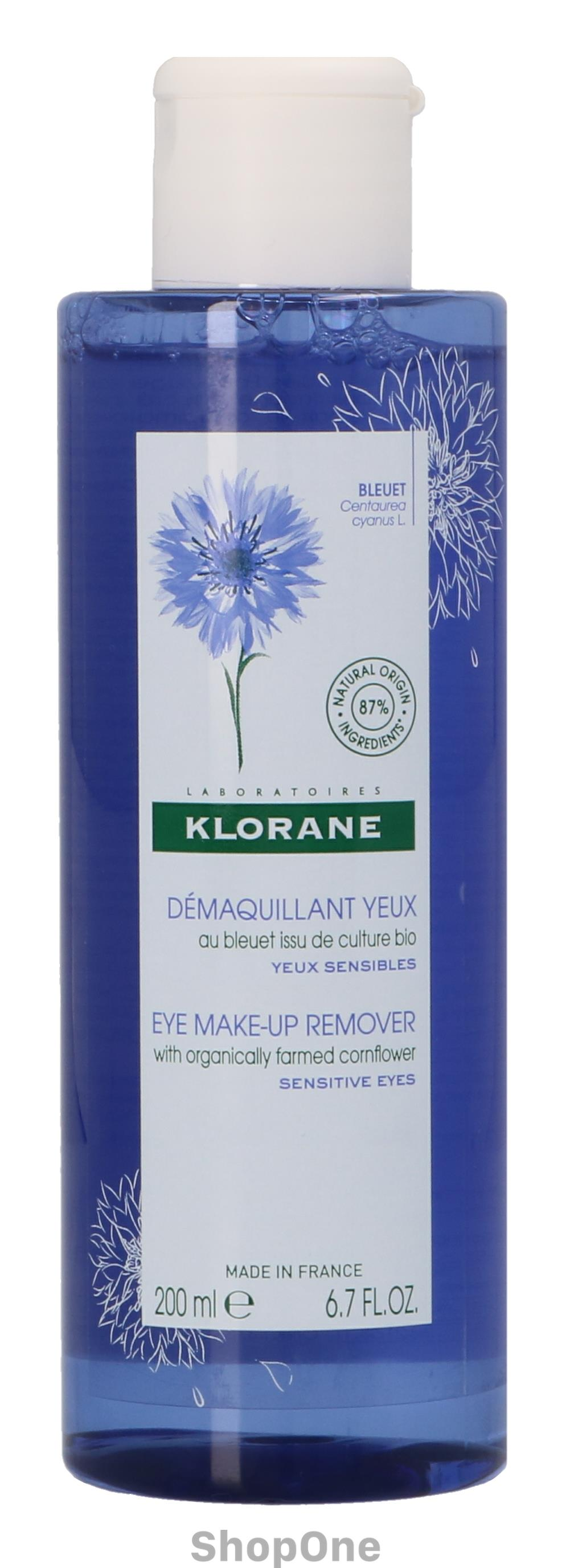 Image of   Eye Make-Up Remover With Cornflower 200 ml fra Klorane